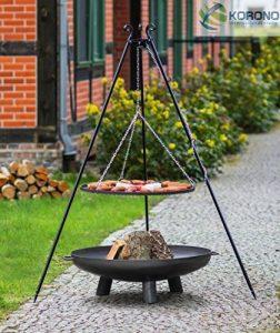 2en 1korono Barbecue pivotant trépied 180cm Rouille 80cm Brasero 100cm avec trou–Style pleine Éclairage & Barbecue mobile de la marque Korono image 0 produit