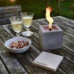 Beske feu en béton avec mèche continue   Taille 10x10x10  torches de jardin   temps de combustion Infinity par le recyclage respectueux de l'environnement de la cire de bougie de la marque Beske-Manufaktur image 1 produit