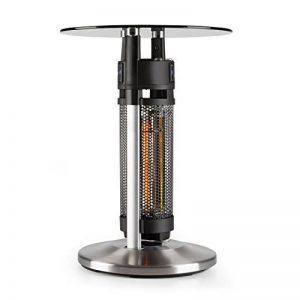 Blum lauffeld Primal Heat 65Table de bistrot–Infrarouge Carbone Chauffage 1200W LED 65cm Verre de la marque Blumfeldt image 0 produit