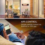 Blumfeldt Gold Fever Smart • Chauffage rayonnant infrarouge de terrasse • 2000 W • 6 niveaux de chaleur • Bluetooth • App-Control • Jusque 20 m² • Télécommande et support mural incl. • Noir de la marque Blumfeldt image 3 produit