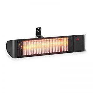 Blumfeldt Gold Fever Smart • Chauffage rayonnant infrarouge de terrasse • 2000 W • 6 niveaux de chaleur • Bluetooth • App-Control • Jusque 20 m² • Télécommande et support mural incl. • Noir de la marque Blumfeldt image 0 produit