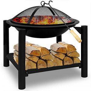 Brasero de jardin en Acier rond 55cm BBQ cheminée barbecue chauffage extérieur de la marque Deuba image 0 produit