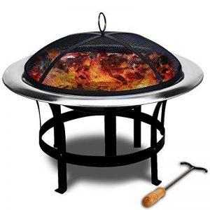 Braséro de jardin avec couvercle en Acier 75cm camping barbecue chauffage extérieur de la marque Deuba image 0 produit