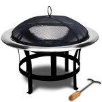 Braséro de jardin avec couvercle en Acier 75cm camping barbecue chauffage extérieur de la marque Deuba image 1 produit