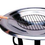 Braséro de jardin avec couvercle en Acier 75cm camping barbecue chauffage extérieur de la marque Deuba image 2 produit