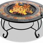 Centurion Supports Fireology Chauffage de jardin Dakota/foyer/table basse, barbecue/Seau à glace–Finition ardoise de la marque Centurion Supports image 6 produit