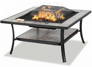 Centurion Supports SHANGO Black Premium Multi-fonctionnel avec Carreaux de céramique en plein air Jardin & Patio Place Heater Fire Pit Brazier et Table d'extérieur de la marque Centurion Supports image 0 produit