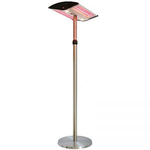 Chauffage d'extérieur électrique halogène, chauffage sur pied, chauffage de jardin réglable en hauteur avec lampe LED - 2000W de la marque Interougehome image 0 produit