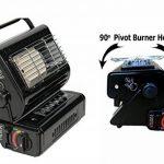 Chauffage portable de camping et cuisinière à gaz butane 2 en 1 - 1,3kW - Pêche d'extérieur de la marque NJ image 2 produit