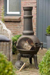 Cheminée en fonte extérieur BBQ Grill brasero grill Barbecue 112 cm de la marque Deuba image 0 produit