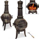 Cheminée en fonte extérieur BBQ Grill brasero grill Barbecue 112 cm de la marque Deuba image 2 produit