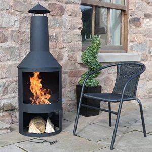 Chiminee de jardin Valencia - est couvert d'une finition noire résistante à la chaleur de la marque 2L Home and Garden image 0 produit