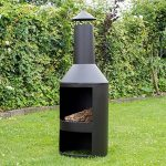 Chiminee de jardin Valencia - est couvert d'une finition noire résistante à la chaleur de la marque 2L Home and Garden image 3 produit