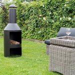 Chiminee de jardin Valencia - est couvert d'une finition noire résistante à la chaleur de la marque 2L Home and Garden image 2 produit