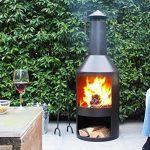 Chiminee de jardin Valencia - est couvert d'une finition noire résistante à la chaleur de la marque 2L Home and Garden image 4 produit