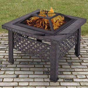 CitySales carré large Bûche Brûleur Brasero Chauffage de terrasse de jardin Brasero barbecue Cheminée de la marque CitySales image 0 produit