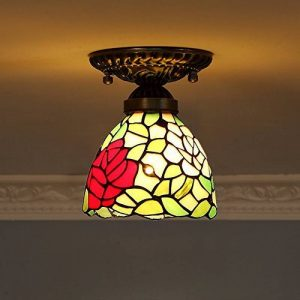 Éclairage extérieur allée créative Feux de balcon Lumière du porche Les marches dans le feu de foyer Plafonnier art Black lights-A de la marque D&L image 0 produit