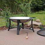 CLGarden FS2 Jardin Barbecue braséro en acier inoxydable Brasero avec grille Pare-étincelles Bol Ø 76 cm de la marque CLGarden image 3 produit