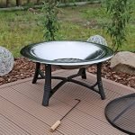 CLGarden FS2 Jardin Barbecue braséro en acier inoxydable Brasero avec grille Pare-étincelles Bol Ø 76 cm de la marque CLGarden image 4 produit