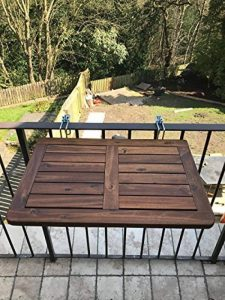 Click-Deck table de balcon en bois dur, table pliante à suspendre, garde-corps, table à manger pour jardin, barbecue, table d'appoint de la marque Click-Deck Products image 0 produit