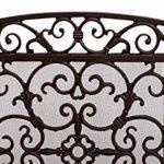 Écran de cheminée Pare-feu de cheminée style antique grille de cheminée fer brun de la marque aubaho image 2 produit