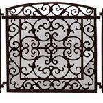 Écran de cheminée Pare-feu de cheminée style antique grille de cheminée fer brun de la marque aubaho image 3 produit