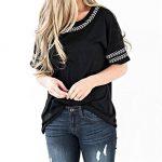CYBERRY.M Chemise à Manches Courtes Chic Chemise T-Shirt à Feuilles Brodées Femme de la marque CYBERRY.M image 1 produit