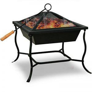 Deuba Brasero de jardin en Acier carré 45x45cm BBQ cheminée barbecue chauffage extérieur de la marque Deuba image 0 produit