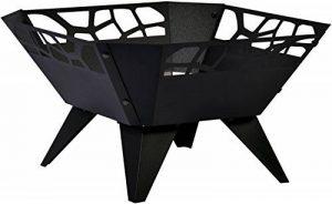 dobar 35416 Brasero, par pulvérisation Braséro, design pour jardin balcon terrasse carrée pour extérieur, Acier inoxydable, Noir, 51.5x 51,5x 30cm, 35416 de la marque dobar image 0 produit