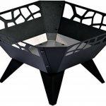 dobar 35416 Brasero, par pulvérisation Braséro, design pour jardin balcon terrasse carrée pour extérieur, Acier inoxydable, Noir, 51.5x 51,5x 30cm, 35416 de la marque dobar image 1 produit
