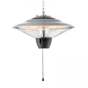 Duramaxx Hitzkopf • chauffage radiant suspendu • chauffage infrarouge • tubes infrarouge à quartz • 2 puissances: 750 ou 1500 watts • portée: jusqu'à 9 m² • IP34 • grille de protection • argent de la marque Duramaxx image 0 produit