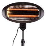 DURAMAXX Shiny Hot Roddy • Radiateur à poser • chauffage radiant • Radiateurs à infrarouges • 2 tubes chauffants au quartz • 1300 watts • 3 modes: éclairage, chauffage ou combiné • IPX4 • noir de la marque Duramaxx image 2 produit