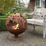 # Esschert Grille de cheminée Aspect Ball 58x 58x 66cm Marron Métal Feu de camp Brasero # de la marque Esschert Design image 3 produit
