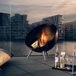 Eva Solo 571099.0Fire de Globe Brasero, diamètre 64cm, hauteur 75cm, noir, 69,6x 69x 35cm de la marque Eva Solo image 3 produit