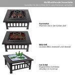 FEMOR Brasero pour Jardin Terrasses BBQ Brasero Ménager Barbecue pour Fête et Foyer 81*81*44cm en Acier NOIR Poêle Chauffant Brasero Foyer Four Carré de la marque Femor image 1 produit