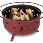Fineway. Foyer/Brasero barbecue à combustible solide Lune et étoiles de la découpe pour jardin/terrasse/camping 74cm x 59cm de la marque Fineway. image 5 produit