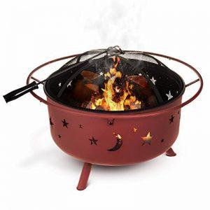 Fineway. Foyer/Brasero barbecue à combustible solide Lune et étoiles de la découpe pour jardin/terrasse/camping 74cm x 59cm de la marque Fineway. image 0 produit