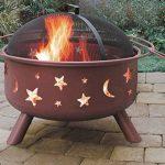 Fineway. Foyer/Brasero barbecue à combustible solide Lune et étoiles de la découpe pour jardin/terrasse/camping 74cm x 59cm de la marque Fineway. image 2 produit