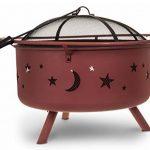 Fineway. Foyer/Brasero barbecue à combustible solide Lune et étoiles de la découpe pour jardin/terrasse/camping 74cm x 59cm de la marque Fineway. image 4 produit