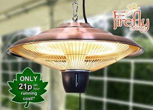 Firefly™ Chauffage Extérieur Électrique Suspendu 1,5kW - Halogène - IP24 Finition Cuivre de la marque Firefly image 0 produit