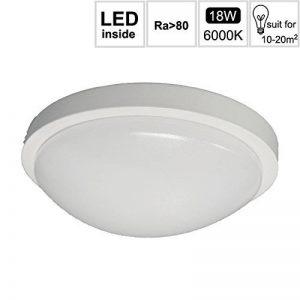 goldenkayi LED Lampe Capteur, Luminaire de portée, temps de seuil et crépusculaire réglable, blanc froid (6000K), 18W (équivalent 150W), 1500lm, détecteur de mouvement 360°/Haute fréquence [Classe énergétique A + +], Weibe 18.00W 230.00V de la marque image 0 produit