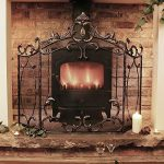 Grande Bronze antique élégant Country Manor fer 3panneaux Panneaux–Idéal pour protéger contre toute Sparks contre toute à charbon ou Feu–H 91x l 64cm de la marque Dibor image 1 produit