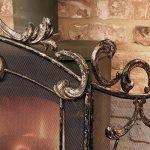 Grande Bronze antique élégant Country Manor fer 3panneaux Panneaux–Idéal pour protéger contre toute Sparks contre toute à charbon ou Feu–H 91x l 64cm de la marque Dibor image 4 produit