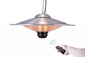 GREADEN - Parasol chauffant suspendu infrarouge SATURN - équipe d'une télécommande et d'une lampe à LED - Chauffage de terrasse - GR2RT3 de la marque GREADEN image 0 produit