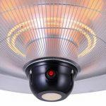 GREADEN - Parasol chauffant suspendu infrarouge SATURN - équipe d'une télécommande et d'une lampe à LED - Chauffage de terrasse - GR2RT3 de la marque GREADEN image 3 produit