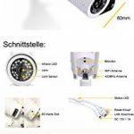 HiKam A7(2ème génération):La caméra pour un foyer sécurisé.(Caméra IP HD sans fil pour extérieur, IP66 avec instructions/application/assistance en allemand avec caméra de surveillance, caméra avec WiFi WLAN, caméra extérieure). (Français non garanti). d image 1 produit