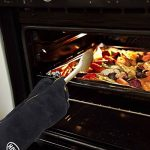 HUAFA Gants de Four, Cuir Gants de Barbecue,16 inch(41cm) Universel Gants de Cuisine Résistant à la Chaleur,Parfait pour Grill BBQ Cuisine Four de Cuisson Coin du Feu Cheminée (Noir) de la marque HUAFA image 3 produit