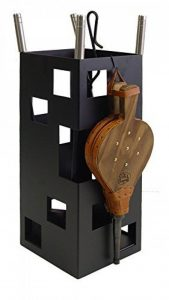 Imex El Zorro 10045 Serviteur de cheminée forme carrée en inox avec accessoires et soufflet 50 x 20 x 20cm Noir de la marque IMEX EL ZORRO image 0 produit