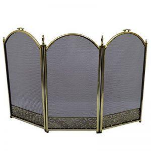 Inglenook Écran de cheminée 3panneaux/cheminée Pare-étincelles Laiton 63,5cm de la marque Inglenook image 0 produit