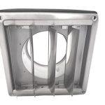 Intelmann Grille de protection météo en acier inoxydable rectangulaire avec lamelles mobiles Raccordement tuyau DN 100125150200mm Surpression Grille d'aspiration de la marque Intelmann GmbH image 2 produit